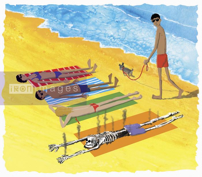 Andrew Pinder - Man burnt to skeleton sunbathing on beach