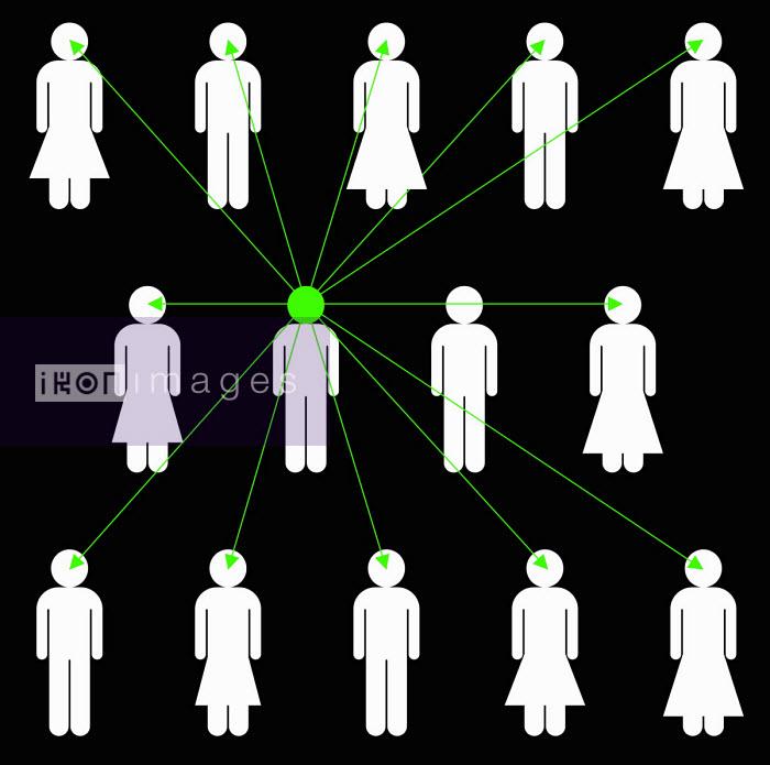 Man connected in network to lots of people - Benjamin Harte