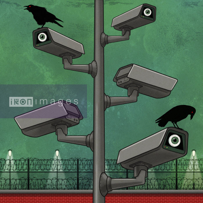 Sinister CCTV surveillance cameras - Dan Mitchell