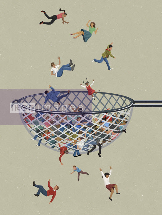People falling through the net - John Holcroft