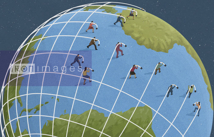Business people creating global network - John Holcroft