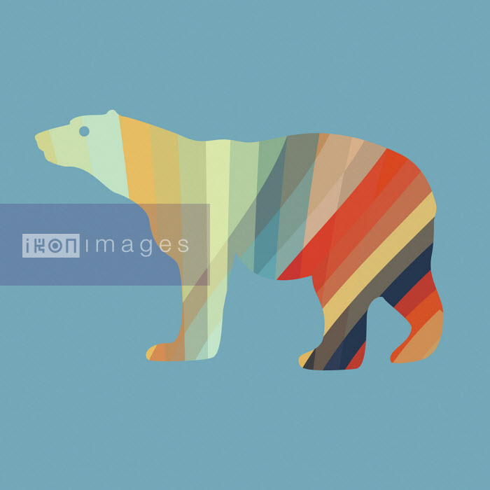 Studio Parris Wakefield - Abstract multi coloured polar bear