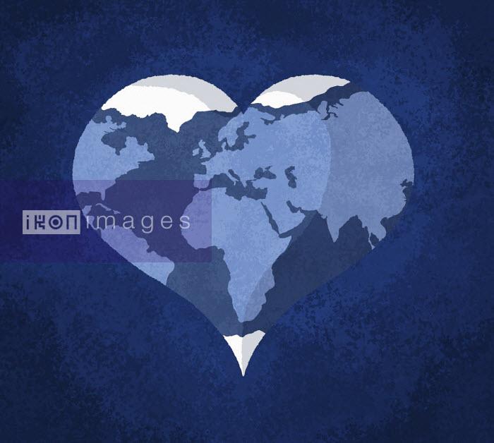 Sam Brewster - Planet earth in heart shape
