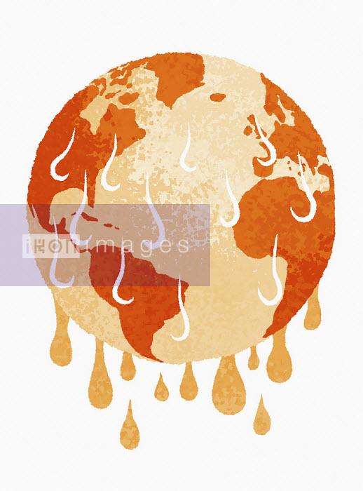 Planet earth melting - Sam Brewster