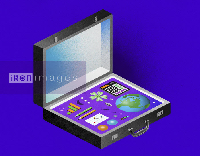 Valero Doval - Briefcase containing items for environmental data analysis