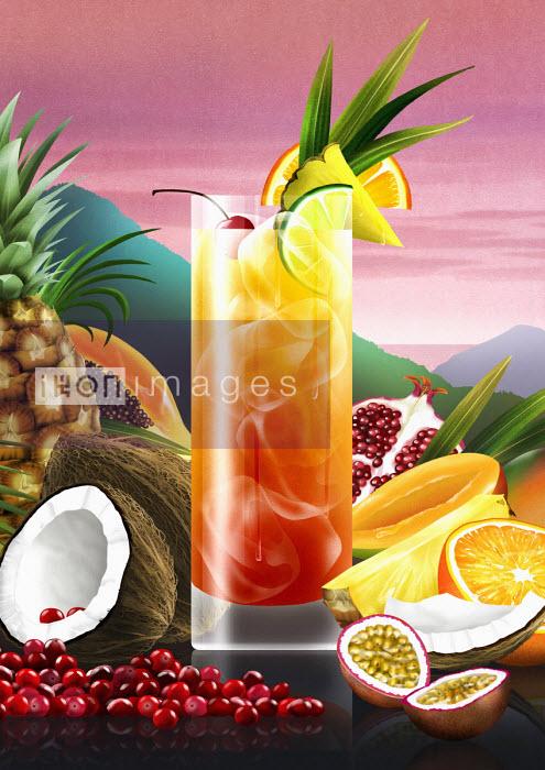 Tropical fruit cocktail - Nick Purser