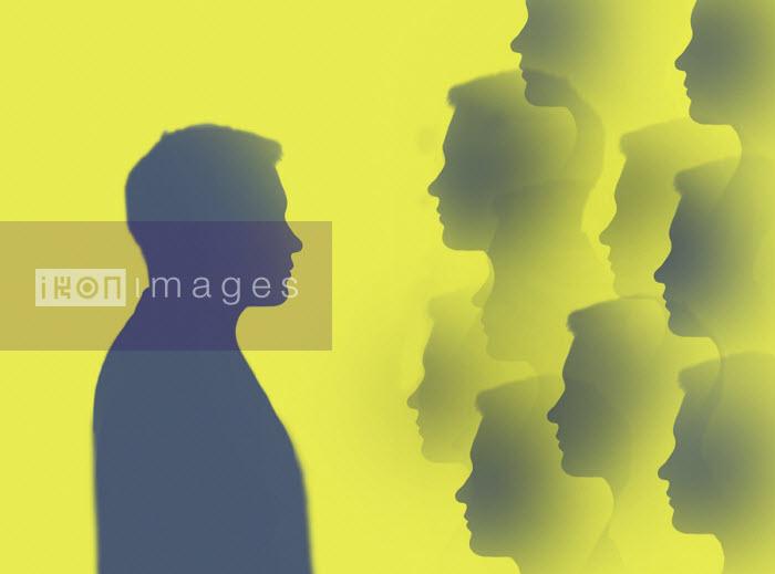 Gary Waters - Man facing multiple images of himself