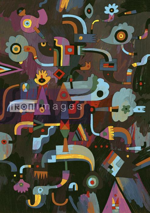 Colourful abstract pattern - Matt Lyon