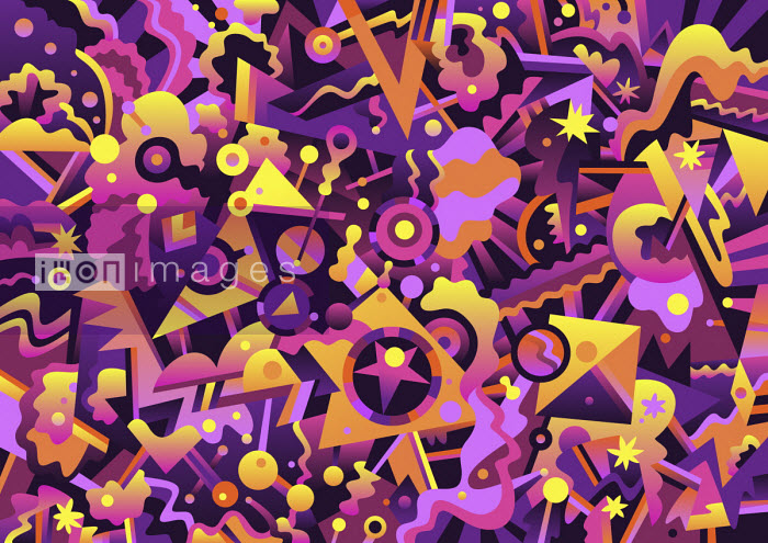 Matt Lyon - Vibrant abstract full frame pattern
