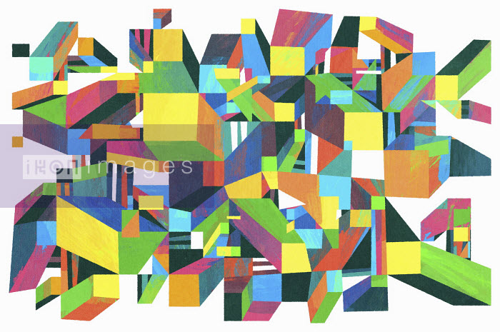 Matt Lyon - Abstract geometric three dimensional pattern