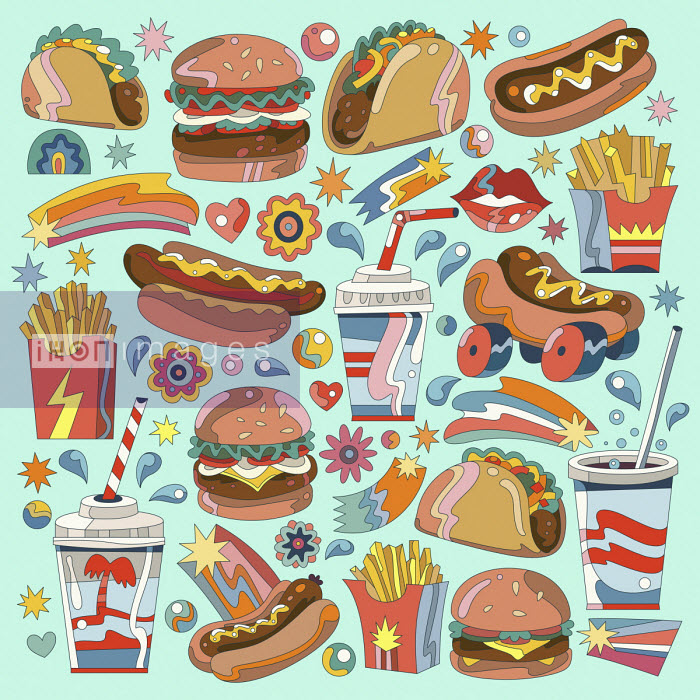 Lots of different fast food - Matt Lyon