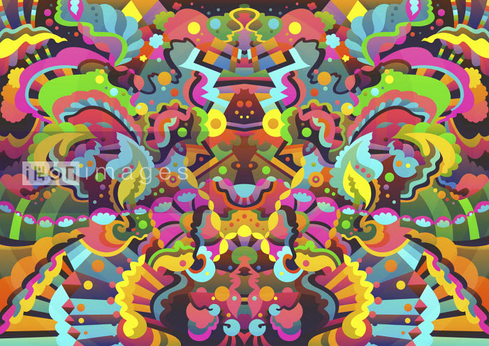 Vibrant abstract symmetrical pattern - Matt Lyon