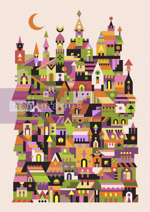 Abstract townscape pattern - Matt Lyon