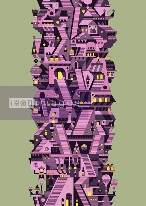 Futuristic fantasy highrise building - Matt Lyon
