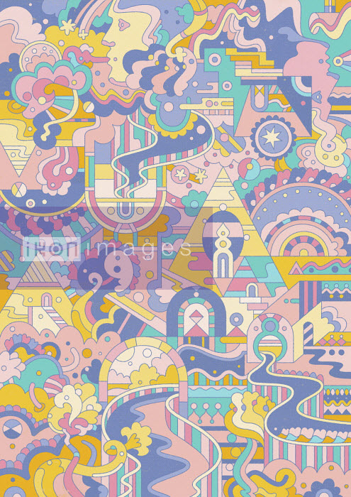 Elaborate pastel abstract pattern - Matt Lyon
