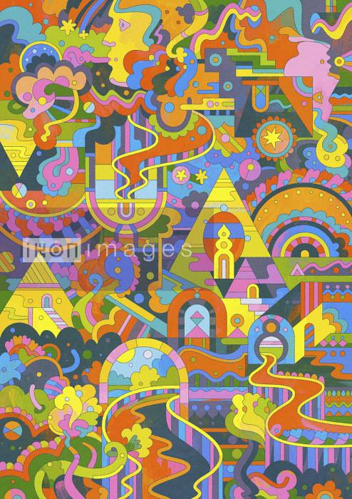 Matt Lyon - Elaborate brightly coloured abstract pattern