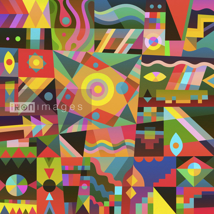 Vibrant geometric abstract pattern - Matt Lyon