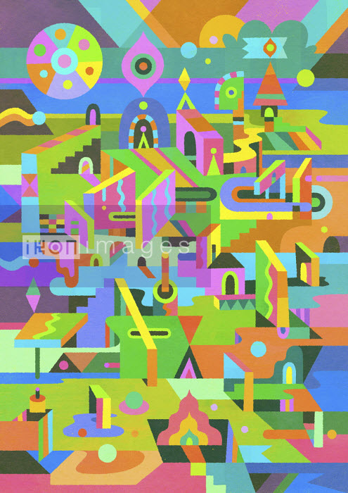 Psychedelic three dimensional abstract pattern - Matt Lyon