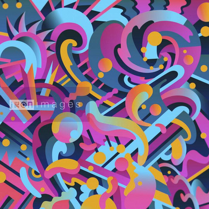 Matt Lyon - Vibrant abstract blobs and swirls pattern