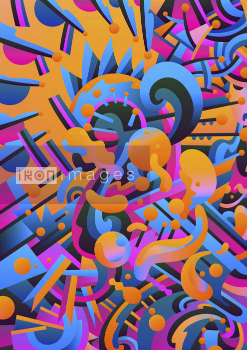 Vibrant abstract psychedelic pattern - Matt Lyon