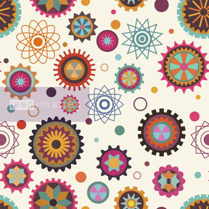 Cogs and wheels in seamless pattern - Matt Lyon