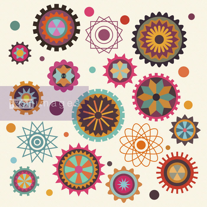 Patterned cogs and wheels - Matt Lyon