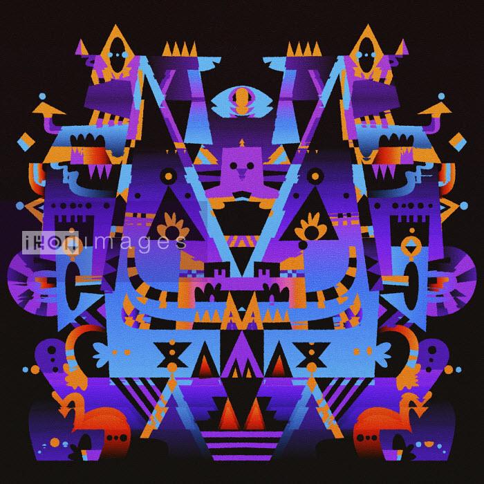 Matt Lyon - Spooky glowing symmetrical abstract pattern