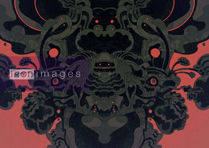 Dark symmetrical abstract pattern - Matt Lyon