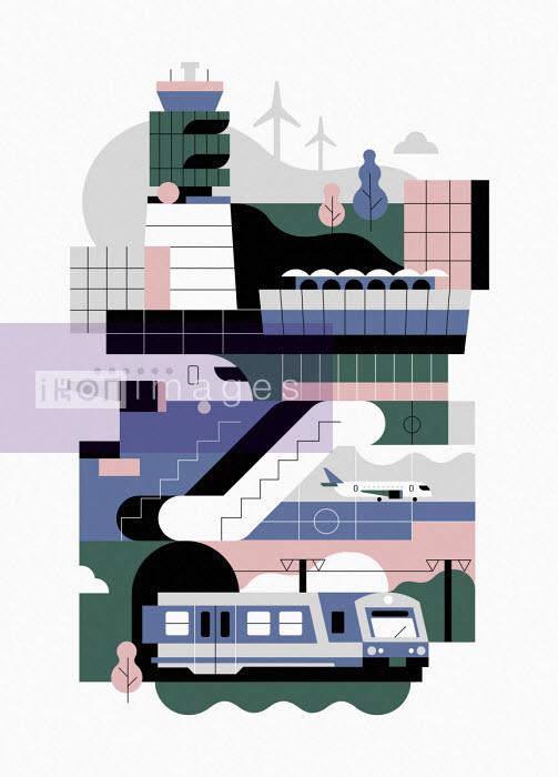 Vienna airport graphic - Koivo