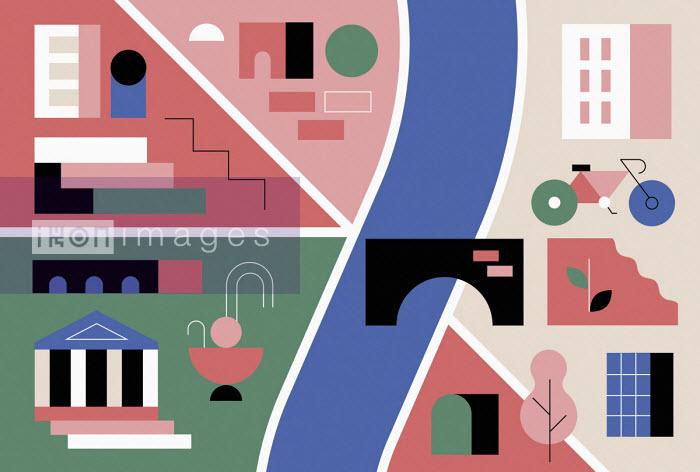 Graphic city map - Koivo