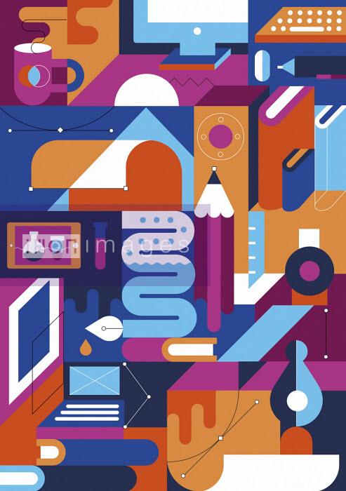 Innovation and ideas abstract pattern - Koivo