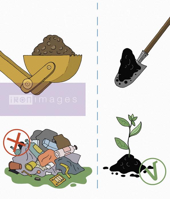 Maxim Usik - Contrast between using land for landfill versus growing plants