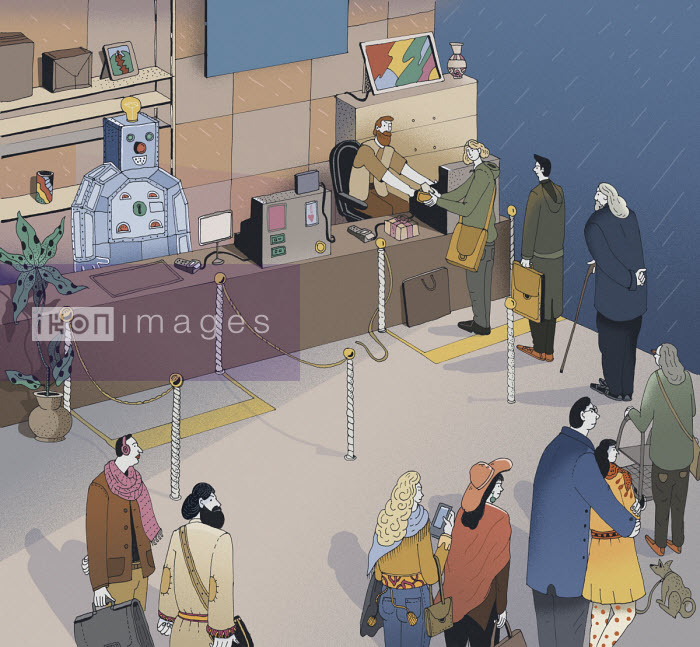 Maxim Usik - Customers preferring human cashier over robot
