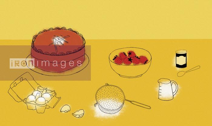 Ingredients for baking cake - Rosie Scott