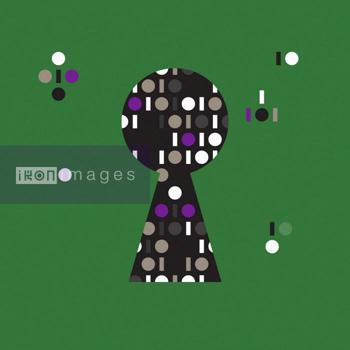 Binary code and keyhole - Grundini
