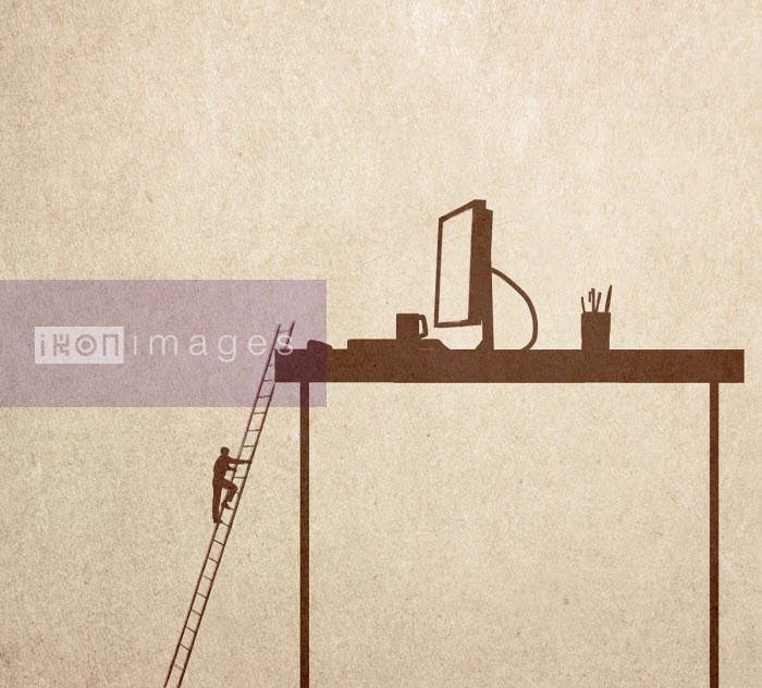 Gary Waters - Man climbing ladder to reach desktop