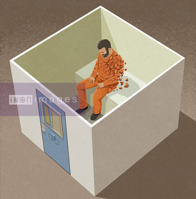 Man falling to pieces in solitary confinement - John Holcroft