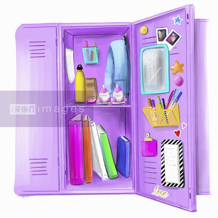 Teenage girl's school locker - Stephanie McKay