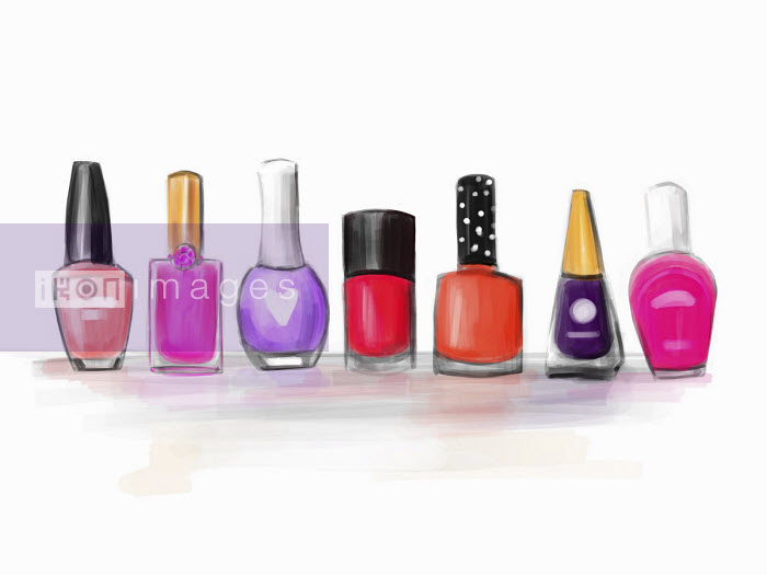 Stephanie McKay - Row of different nail varnishes