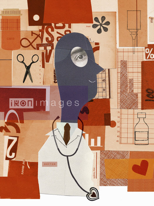 Doctor and healthcare collage - Donna Grethen