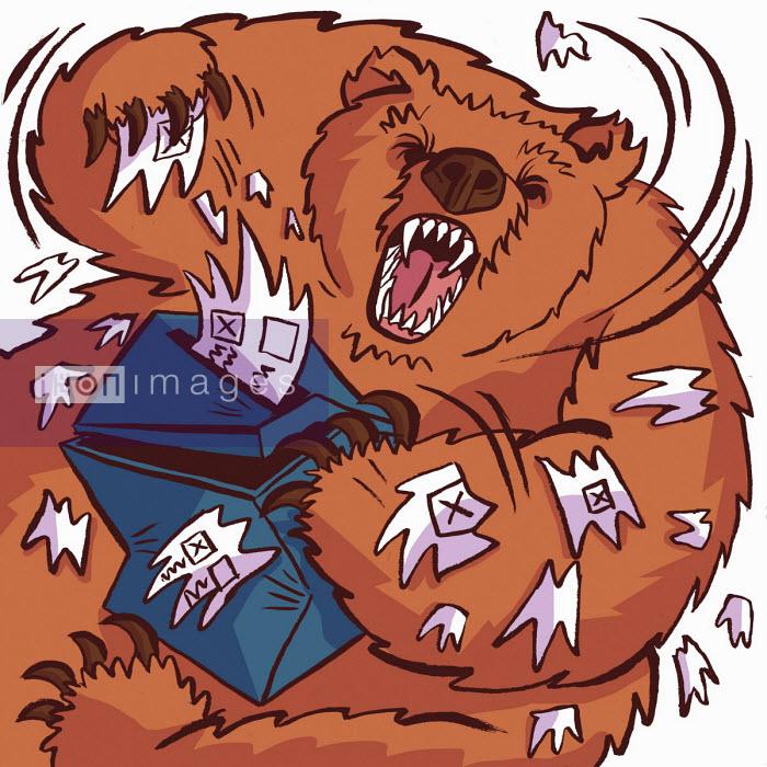 Dom McKenzie - Fierce Russian bear tearing up ballot box