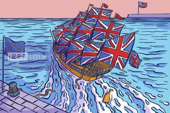 United Kingdom ship leaving European Union and heading for United States - Dom McKenzie
