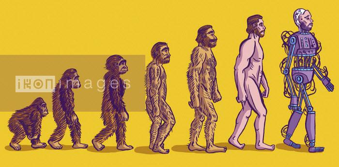 Evolution of man from ape to cyborg - Dom McKenzie