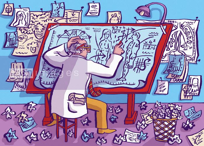 Scientist calculating differences between men and women - Dom McKenzie