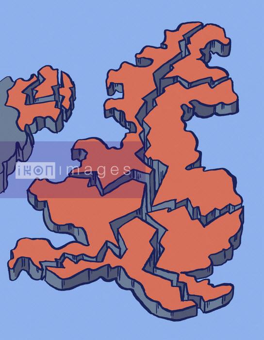 Dom McKenzie - Map of United Kingdom breaking up