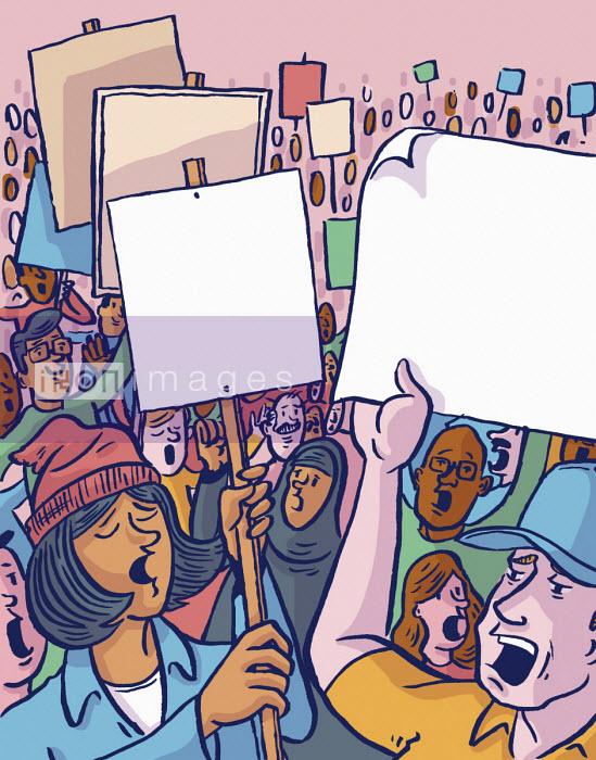 People protesting - Dom McKenzie