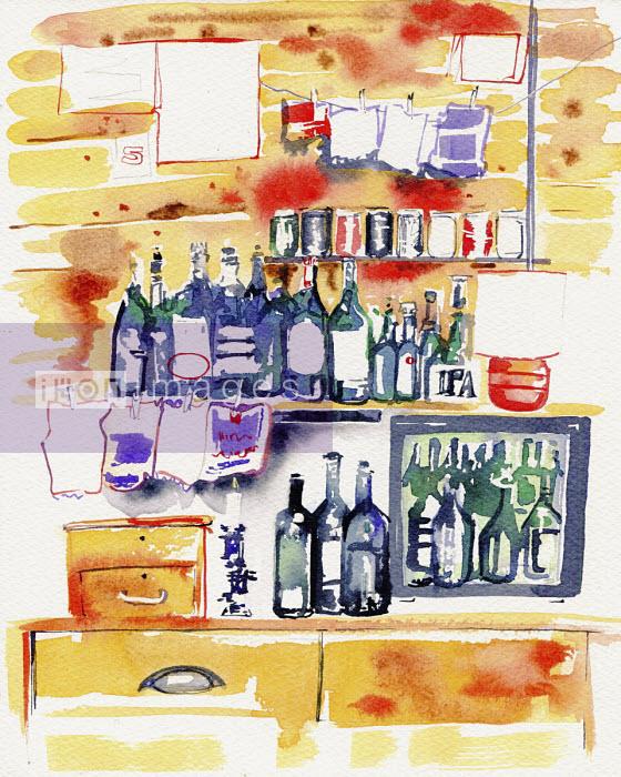 Bar shelves - Hannah Clarke