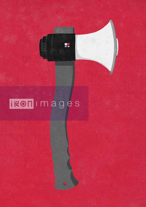 Megaphone shaped like an axe - Sergio Ingravalle