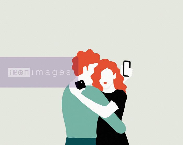 Annalisa Grassano - Couple taking selfies while embracing