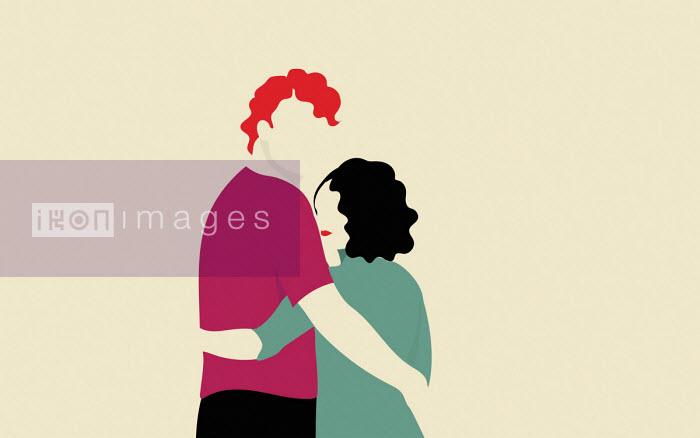 Annalisa Grassano - Couple looking back over shoulder
